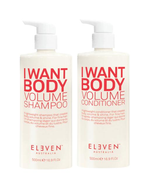Eleven Australia Volume Shampoo & Conditioner 500ml