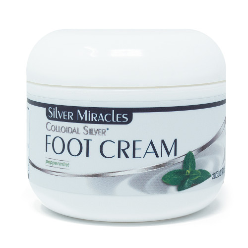 Silver Miracles Colloidal Silver Foot Cream – 2 oz