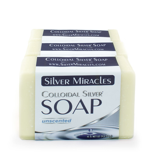Silver Miracles Colloidal Silver Soap - 3 pack