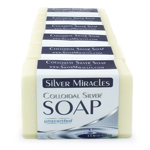 Silver Miracles Colloidal Silver Soap - 6 pack