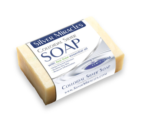 Silver Miracles Colloidal Silver Soap with Tea Tree Essential Oil