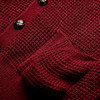Mens Relco Waffle Knit Retro 60s Button Cardigan