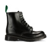 Mens Solovair 8 Eye Hi-Shine Derby Boot - Made in the UK