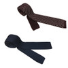 Mens Tootal Plain or Dot Silk Knitted 60s Mod Tie