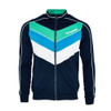 Mens Hummel Liam Retro 70s Chevron Zip Track Top