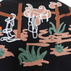 Mens Rockmount Cactus & Boots Western Embroidered Cowboy Shirt