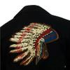 Mens Rockmount Vintage Western Gabardine Warbonnet Bolero Jacket