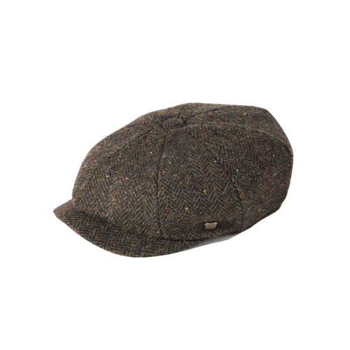 Failsworth Carloway 100% Wool Harris Tweed Newsboy Retro Cap
