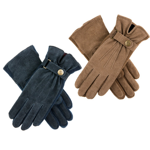 Womens Dents Laura Suede Side Knit Walking Gloves