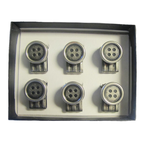 Albert Thurston Vintage Clip-On Buttons for Braces - Pack of 6