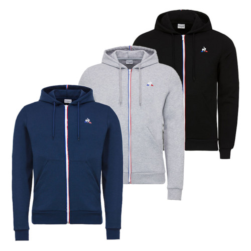 Mens Le Coq Sportif Essentials Full Zip Hooded Sweatshirt
