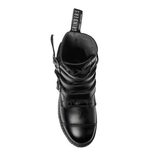 Womens Grinders Quad CS 14 Eyelet Buckle Derby Boot