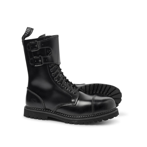 Womens Grinders Camelot CS 14 Eyelet Twin Buckle Derby Boot