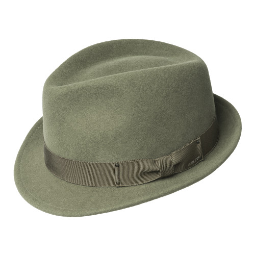 Mens Bailey of Hollywood Wynn Wool Felt Crushable Trilby Hat - Made in the USA