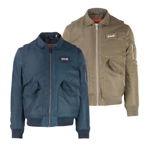 Mens Schott NYC Vintage 210100 Flight Bomber Jacket