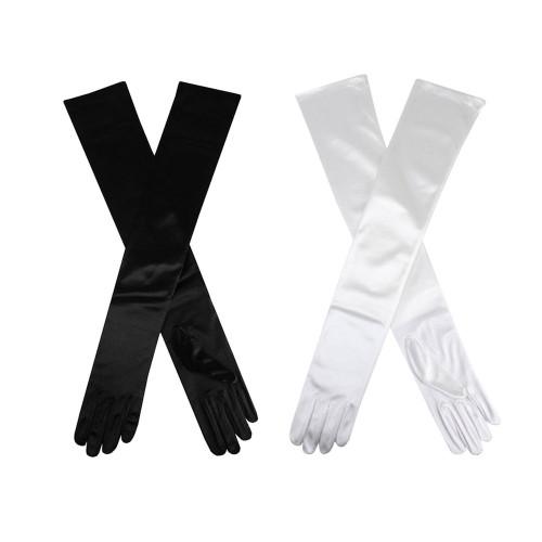 Womens Dents Vintage Long Satin Evening Gloves