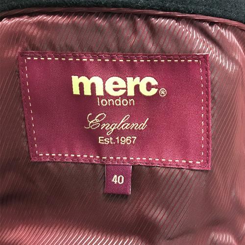 Mens Merc London Walesby Black Melton Wool Crombie 60s Mod Overcoat