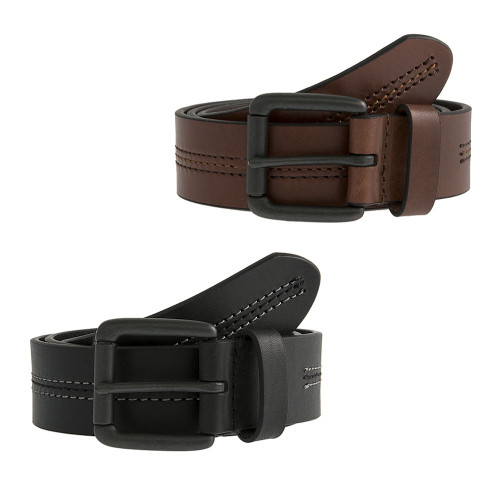 Mens Dents Classic Casual Leather Centre Stitch Belt