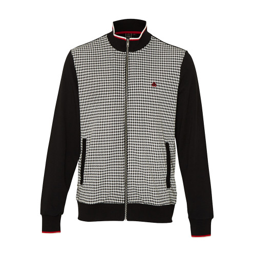Mens Merc London Willow Vintage 70s Dogtooth Mod Track Top