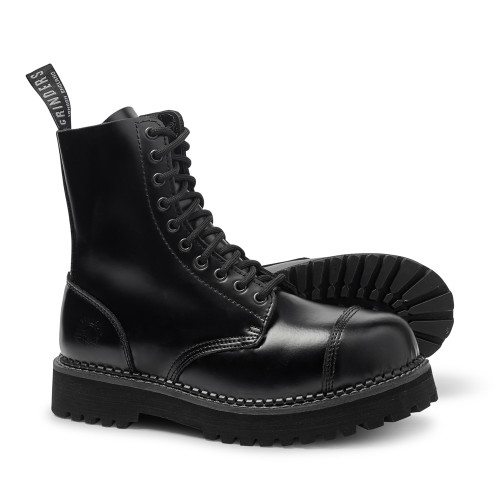 Womens Grinders Bulldog CS 10 Eyelet Extra Thick Sole Derby Boots