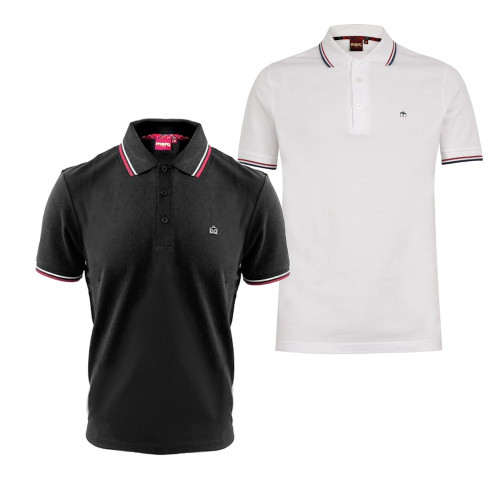 Mens Merc London Card Polo Shirt with Tipped Collar