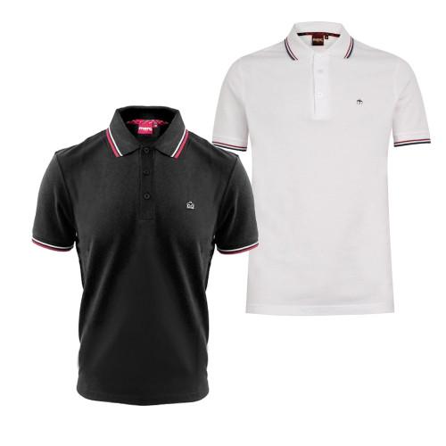 Mens Merc London Card Polo Shirt with Tipped Collar