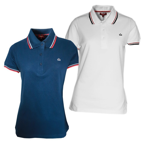 Merc London Women's Polo Shirt with Tipped Collar