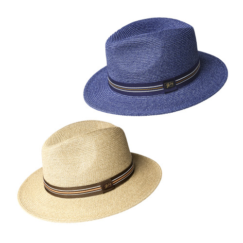Mens Bailey of Hollywood Hester Summer Braided Fedora Hat
