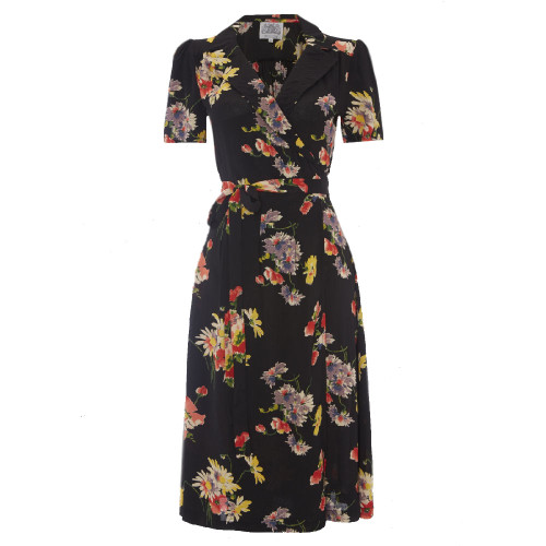 Seamstress Of Bloomsbury WWS Tea Party 1940s Mayflower Peggy Wrap Dress