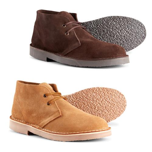 Roamers Mens Original Suede Mod Leather Desert Boots
