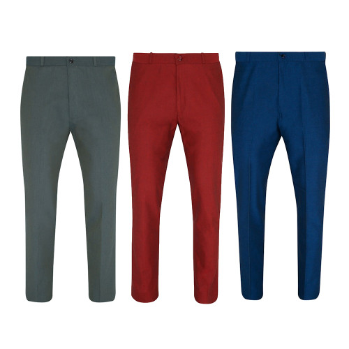 Mens Relco Two Tone Tonic Sta-Press Mod Trousers