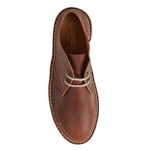 Womens Roamers Brown Distressed Leather Welted  Desert Boots UK 3 - 7