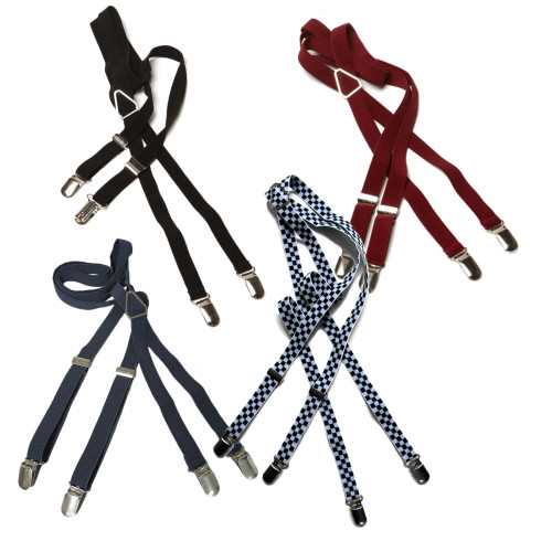 Merc London Narrow Skinny Mod Drace Braces/Suspenders .65 inch (1.7cm)