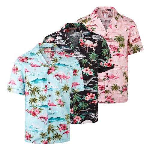 Robert J. Clancey Flamingo Rockabilly Authentic Hawaiian Shirt