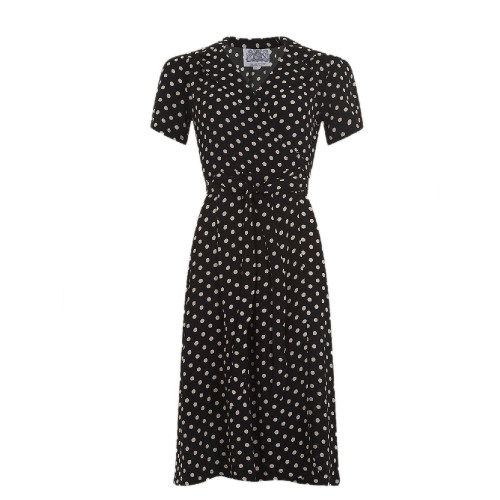 Seamstress Of Bloomsbury Wrap Crepe De Chine Peggy Dress