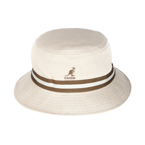 Mens Kangol 100% Cotton Retro Stripe Lahinch Bucket Hat