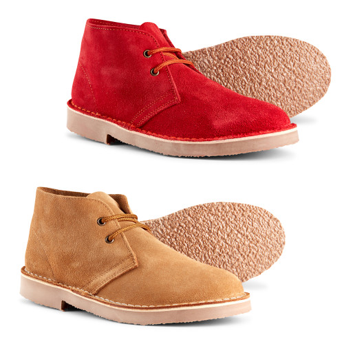 Womans Suede Leather Desert Boots By Roamers