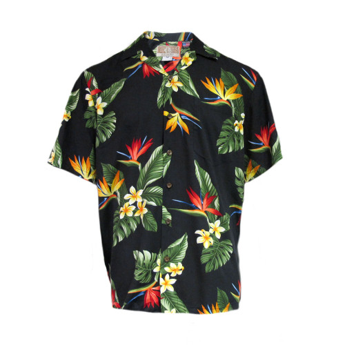 Kalaheo Mens Birds Of Paradise Authentic Hawaiian USA Shirt