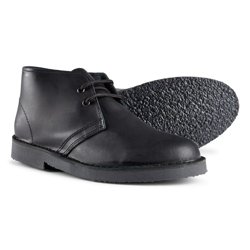 Womens Roamers Black Distressed Leather Welted Desert Boots UK 4 - 7