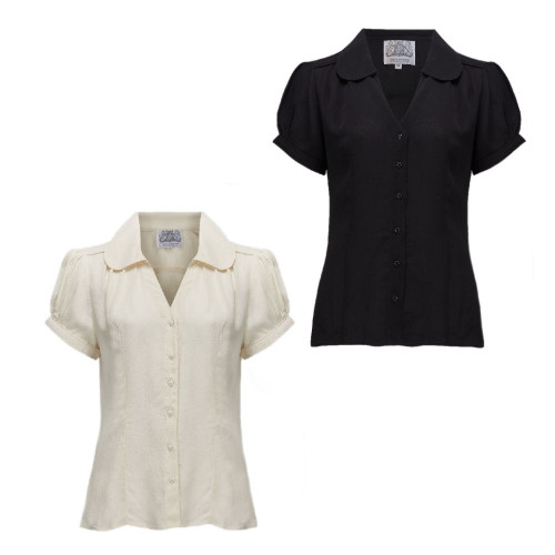 Seamstress Of Bloomsbury 1940s Crepe de Chine Judy Blouse