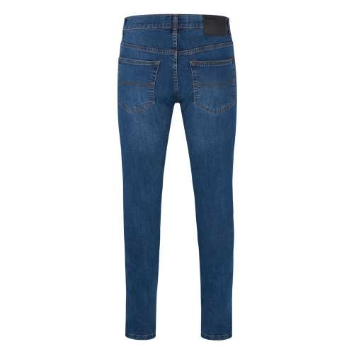 Mens Relco Blue Marble Wash 80s Stretch Drainpipe Jeans