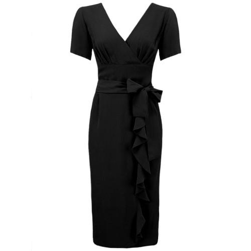 Seamstress Of Bloomsbury Lilian Mayflower Sarong Tea Party 40s Wrap Dress