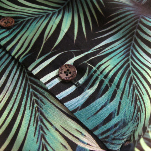 Kalaheo Mens Tropical Leaf Authentic Hawaiian USA Shirt