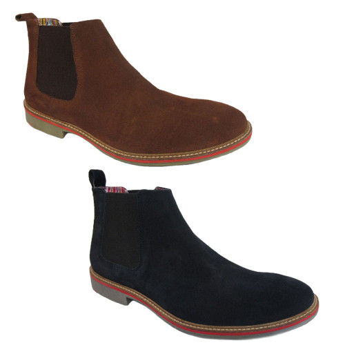 Roamers Mens Suede Twin Gusset Pull On Chelsea Boot