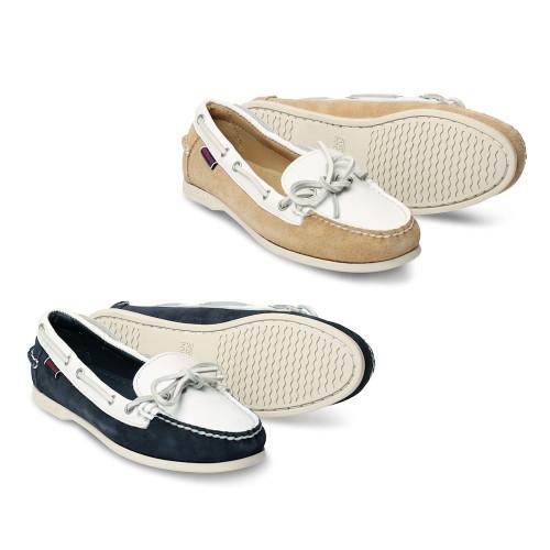 Womens Sebago Nina Suede Leather Docksides Boating Deck Shoes