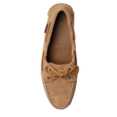 Womens Sebago Jacqueline Suede Leather Docksides Boating Deck Shoes