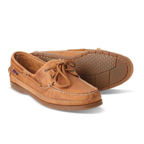 Mens Sebago Schooner Crazy Horse Leather Docksides Boat Shoes