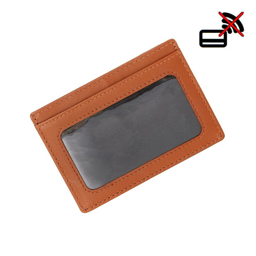 Mens Dents Slim RFID Blocking 2-Tone Credit Card Holder Leather Wallet
