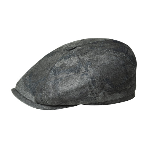 Mens Bailey of Hollywood Almas Textured Tweed Flat Cap