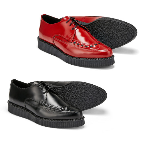 Womens Undercover Roxy Single Sole Rockabilly Interlace Creeper Shoes